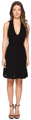 M Missoni Solid Rib Stitch V Dress Women's Dress