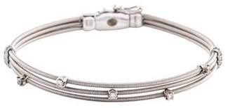Marco Bicego 18K Diamond 3 Row Bracelet