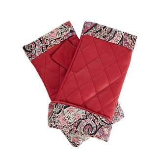 Gizelle Renee - Page Fucshia Pink Leather Gloves With BB Liberty Tana Lawn