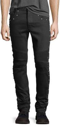 Balmain 6-Pocket Multi-Rivet Skinny Jeans