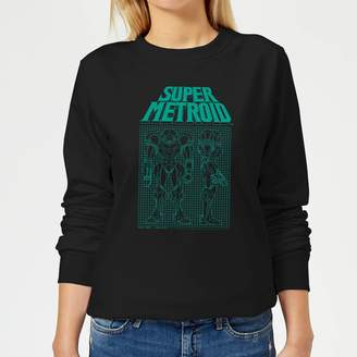 Nintendo Super Metroid Power Suit Blueprint Women's Sweatshirt