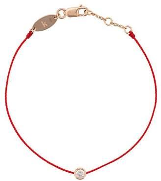 Redline diamond and 18kt rose gold string bracelet