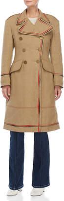 Sonia Rykiel Khaki Double-Breasted Coat