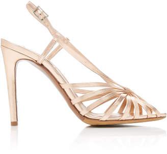 Tabitha Simmons Jazz Metallic Leather Slingback Sandals