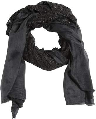 Modal Scarf W/ Leather Details