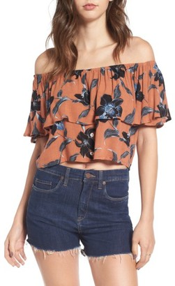Women's Faithfull The Brand Salerno Off The Shoulder Top $99 thestylecure.com