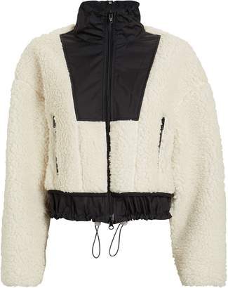 3.1 Phillip Lim Cropped Teddy Bomber Jacket