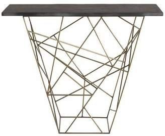 Arteriors 6020 Liev 42 Long Marble Top Iron Console Table