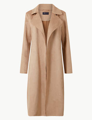 Marks and Spencer Open Front Longline Coat