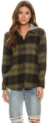 Element Wilson Hooded Flannel Shirt $54.95 thestylecure.com