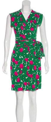 Diane von Furstenberg Printed Sleeveless Mini Dress