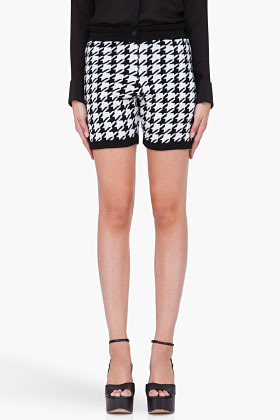 3.1 PHILLIP LIM Wool Houndstooth Shorts