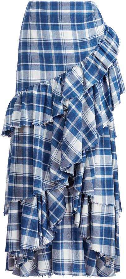Ralph Lauren Phaedra Plaid Skirt