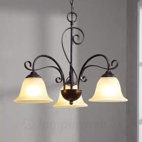 Romantisch wirkende LED-Hängeleuchte Sve...