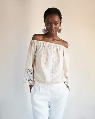 Express Crochet Off The Shoulder Blouse