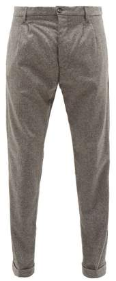 J.w.brine J.W. Brine J.w. Brine - Marshall Wool Blend Trousers - Mens - Grey