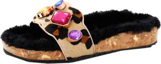 SOPHIA WEBSTER Lyla Gem Leopard Slide $495 thestylecure.com