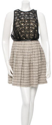 Tracy Reese Leather-Trim A-Line Dress $75 thestylecure.com