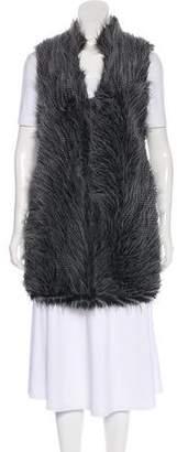 MICHAEL Michael Kors Faux Fur Plunging Neckline Vest