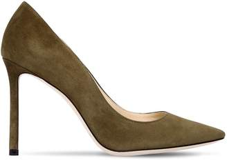 Jimmy Choo 100mm Romy Suede Pumps