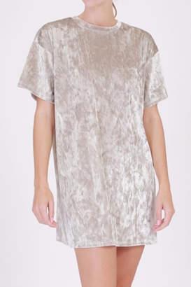 Double Zero Velvet T-Shirt Dress