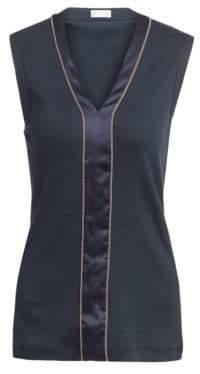 Brunello Cucinelli Embellished Sleeveless Top