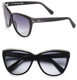 Tod's (トッズ) - Tod's Metal Rim Classic Cat's-Eye Sunglasses/Black