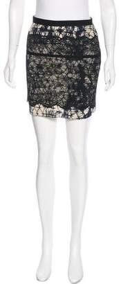 Gryphon Lace-Paneled Mini Skirt