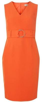Dorothy Perkins Womens Petite Coral Belted Bodycon Dress