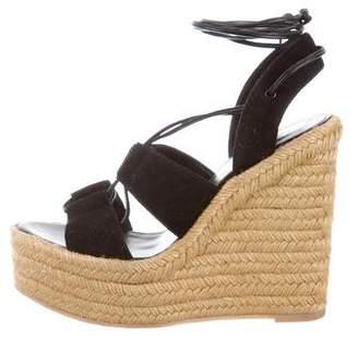 Saint Laurent Suede Espadrille Sandals