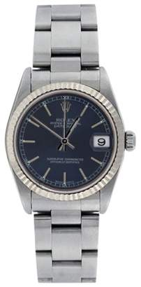 Rolex Midsize Stainless Steel Datejust Oyster 78274 Blue Stick Dial 31mm Watch