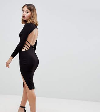 Asos Strappy Open Back Midi Bodycon Dress