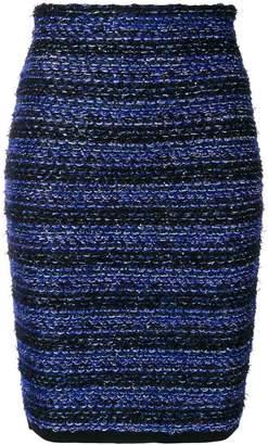 Balmain striped tweed pencil skirt