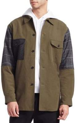 McQ Oversized Patchwork Military Jacket