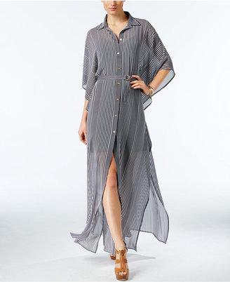 MICHAEL Michael Kors Belted Maxi Shirtdress $195 thestylecure.com