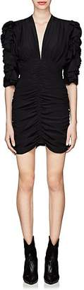 Isabel Marant Women's Andor Stretch-Silk Crepe Fitted Dress - Black