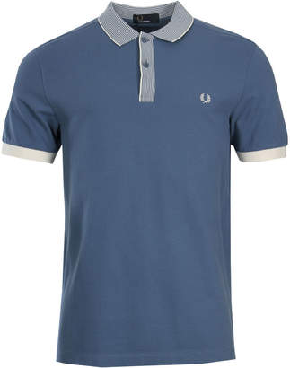 Fred Perry Stripe Collar Polo - Dusk Blue