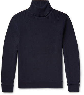 Privee SALLE Art Ribbed Virgin Wool Rollneck Sweater