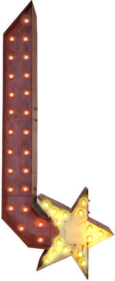 Rejuvenation Rustic Marquee Arrow W/ Star Tip