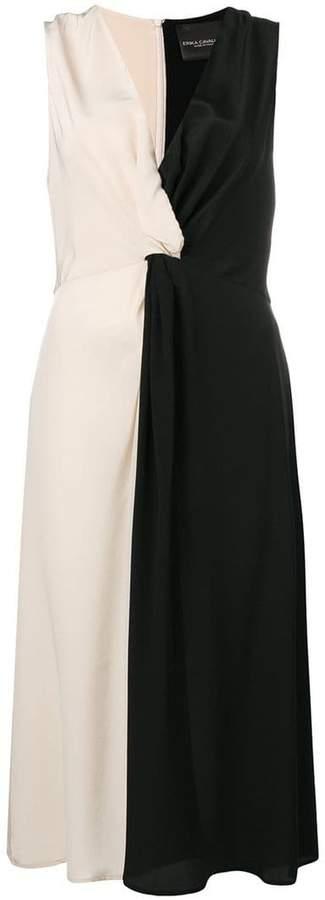 Erika Cavallini two-tone flared dress