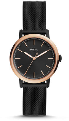 Fossil Neely Three-Hand Black Stainless Steel Watch