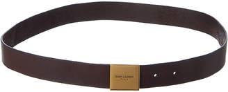 Saint Laurent Bellachasse Vintage Leather Belt
