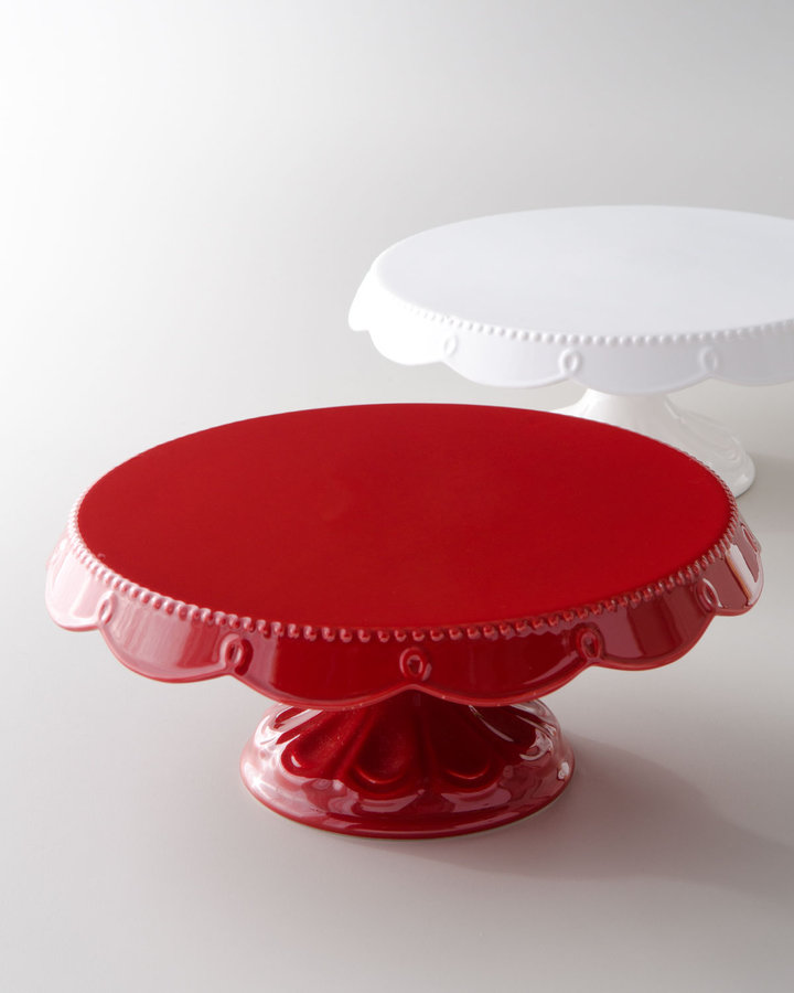 """Horchow """"Bianca"""" Scalloped Cake Plates"""