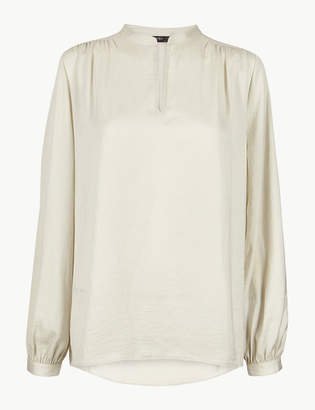 Marks and Spencer Washed Satin Relaxed Fit Blouse