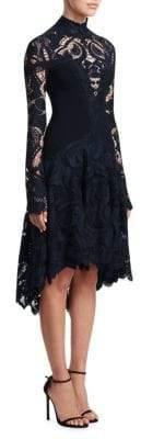 Jonathan Simkhai Embroidered Lace Hi-Lo Dress