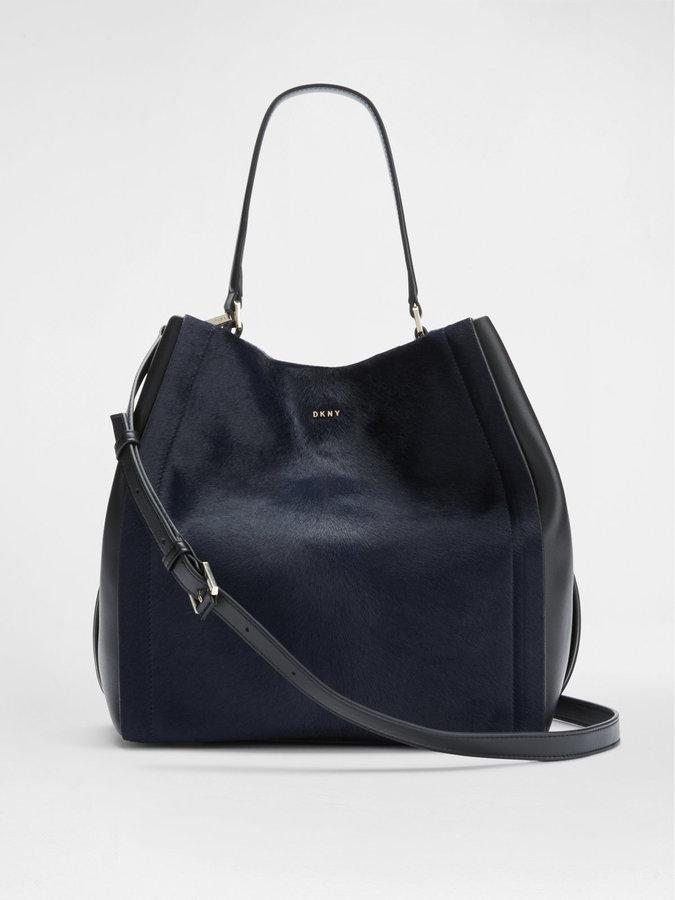 DKNYCalf Hair Bucket Bag