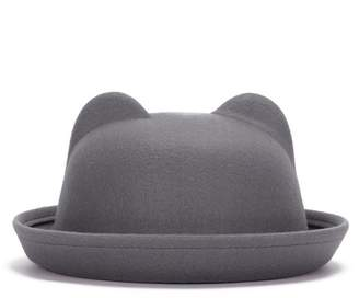 BIBITIME Women Bear Cat Ear Derby Hats Vintage Bowler Hat Party Dome Cap adcd414cfb78