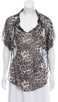 Haute Hippie Silk Short Sleeve Top