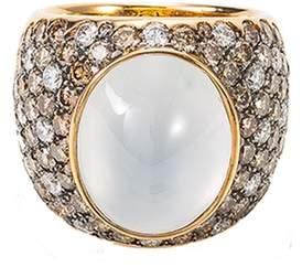 Roberto Coin Diamond jade 18k rose gold ring