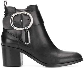 DKNY wrap buckled boots
